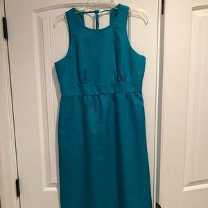 J Crew turquoise cotton cady dress